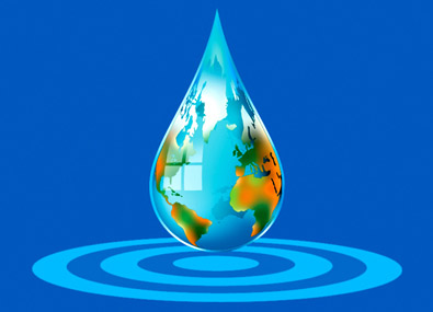 Christopher Hills Foundation logo symbolizes the power of single droplet of water to begin and propagate life, food and energy throughout the planet Earth
